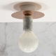 Carrara White Marble Sconce RoseGold